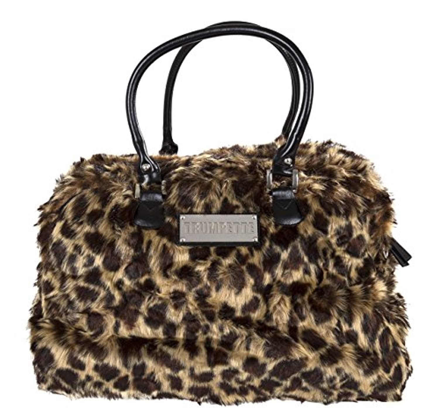 Trumpette Schleppbags Diaper Bag in Leopard Print Fur, Large by Trumpette