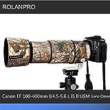 rolanproレンズCamouflage Rain Cover for Canon EF 100–400mm f4. 5–5.6L is II USMレンズ保護ケースガンClothing