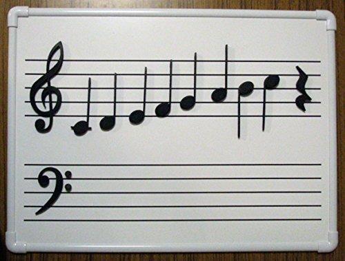 ホワイトボード 五線譜 ミニ マグネット音符セット