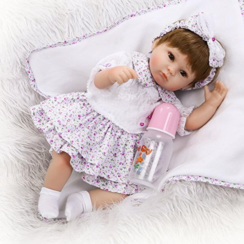 Pursue Baby Lifelikeベビー人形おもちゃガール、15インチリアルなWeightedビニール人形Eyes Open