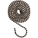 uxcell® Pull Chain Extension Ceiling Fan Beaded Chain Ornaments Bronze 3 Feet Length 3mm Diameter