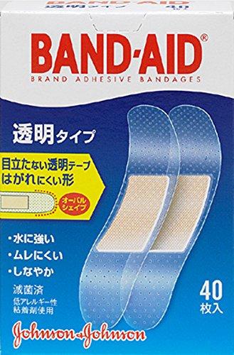 バンドエイド 救急絆創膏 透明タイプ 40枚