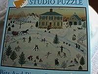 Bits and Pieces MarieフォックスSkatingパーティー1000Piece Jigsaw / studioパズル