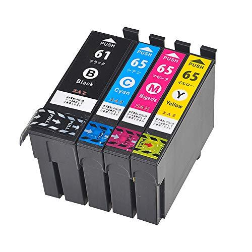 IC4CL6165 ICチップ付き 残量表示可能 EPSON 互換インク (1パック(4色) ZAZ FFPパッケージ (ZA)