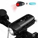 TAKAGISM 自転車ライト 防水 充電式 自転車ヘッドライト LED高輝度 1200mAh USB充電 IP65防水(ブラック)
