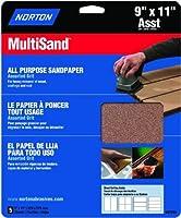 Norton 47765 Multisand Sandpaper Assorted Grit 9-Inch x 11-Inch 5-Pack [並行輸入品]