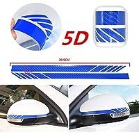 FidgetGear カーアクセサリーリアビューミラーカーボンファイバー5Dステッカービニールストライプデカール2pcs