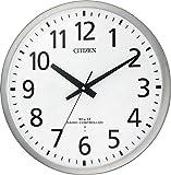 CITIZEN ( シチズン ) 電波 掛け時計 スペイシーM463 グリーン購入法 適合商品 大型 オフィス シルバー 8MY463-019