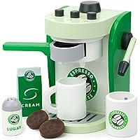 エスプレッソExpress Coffee Maker Playset, With 2カップ、2ポッド、1 Portafilter、1コーヒーメーカー、クリーム&シュガー( 8 pcs。)By想像力世代