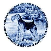 デンマーク製 ドッグ・プレート (犬の絵皿) 直輸入! Welsh Terrier / ウェルシュ・テリア