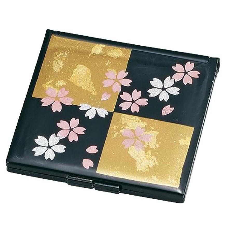 みなさん咳代表して中谷兄弟商会 山中漆器 コンパクトミラー 黒 雅桜33-0206