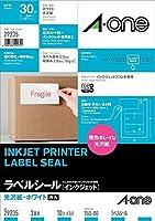 (まとめ買い) エーワン ラベルシール インクジェット 光沢紙 3面 10枚 29235 【×3】
