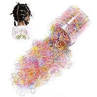 (ビグッド)Bigood 約1000本 セット レディース 子供 弾性 ヘアゴム 輪ゴム 髪飾り ベビー ヘアアクセサリー プレゼント(セットE)