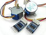[2組セット] 28BYJ48 5V ステッピングモーター / ULN2003 ドライバー基盤 Arduino等の電子工作用