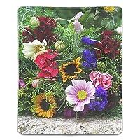 花の花束カラフルな夏気分 マウスパッド ゲーム用 快適 耐久性