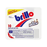 [Mr Muscle ] 12のMr筋Brillo 10マルチユース石鹸パッドパック - Mr Muscle Brillo 10 Multi-Use Soap Pads Pack of 12 [並行輸入品]