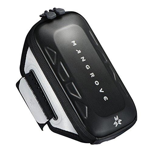 スポーツアームバンド アームバッグ ランニングアームバンド MANGROVE 防水 通気性高い 大容量 調節可能 夜間反射材料 iPhone X/8/7/6/8s/7s/6sなど6.0インチまでのスマホに対応 ブラック