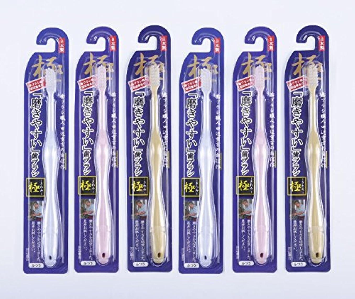 考えたアロングパイント歯ブラシ職人Artooth ® 田辺重吉の磨きやすい歯ブラシ 極 LT-09 (6本入)