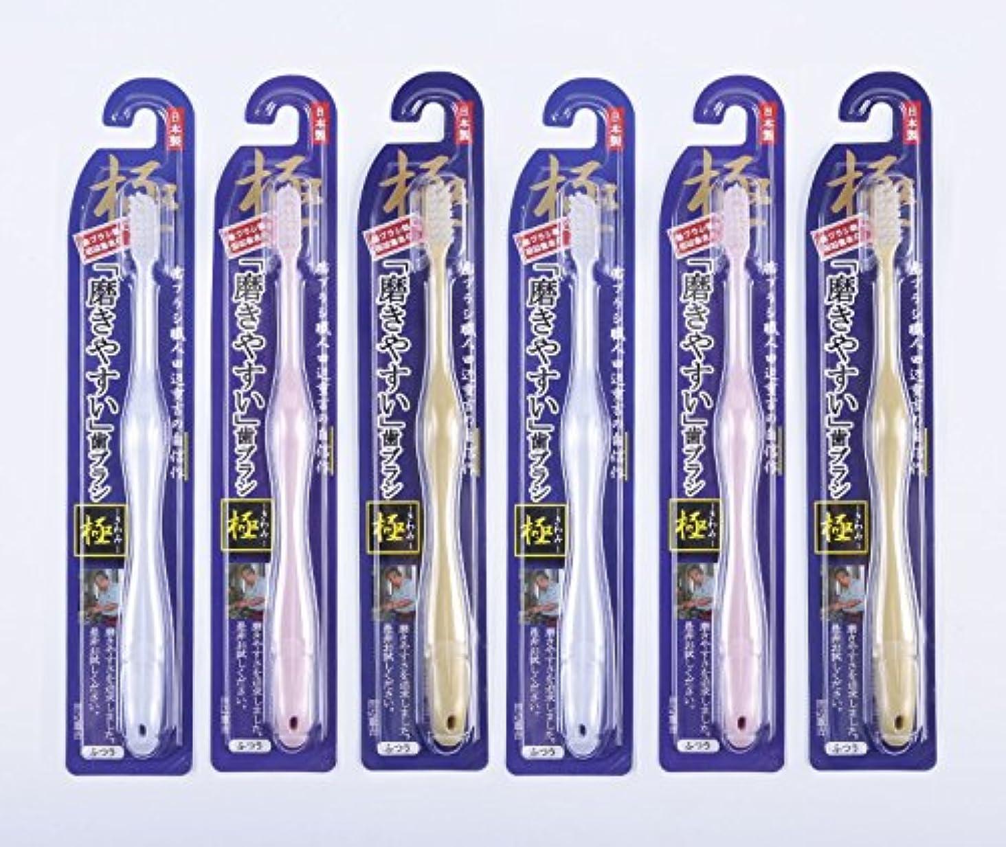 非アクティブモード生き残り歯ブラシ職人Artooth ® 田辺重吉の磨きやすい歯ブラシ 極 LT-09 (6本入)