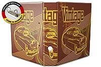 バインダー 2 Ring Binder Lever Arch Folder A4 printed Vintage