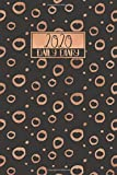 2020 Daily Diary: A5 Day on a Page to View Full DO1P Planner Lined Writing Journal | Black with Copper Rings Circles Pattern (2020 Daily Diaries)