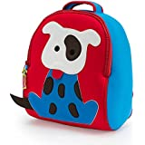 Dabbawalla Bags Go Fetch Dog Kid's Toddler and Preschool Backpack, Red/blue