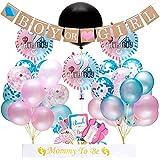 Ibaste ベビーシャワー装飾 ガーランド 風船セット デコレーション 赤ちゃん 出産祝い 誕生日飾り ギフト プレゼント ホーム パーティー飾り