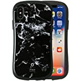 iFace First Class Marble iPhone X ケース 耐衝撃/ブラック