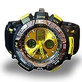 ZooooM コンパス風 デザイン ウォッチ フェイク 文字盤 おもしろ アナログ 腕 時計 ファッション アクセサリー ユニーク カジュアル メンズ 男性 (イエロー) ZM-AUODE-YE