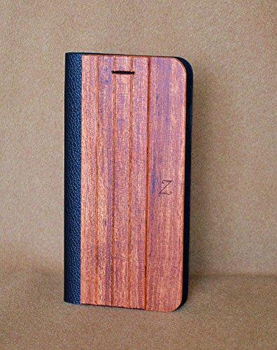 【iPhoneを工芸品と共に】【Zenith Art-Book】iPhone 7 / 7 Plus 超精密 最高級木製手帳/カバー/ケース 【Zenith Artwork】 (iPhone7, 花梨)