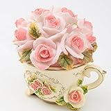 アクセサリー ジュエリー ケース ティーカップ ピンク バラ 薔薇 メルヘン 小物入れ
