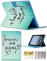 Dteck(TM) iPadケース iPad 2/3/4ケース PUレザー スタンドケース オートスリープ/ウェイク機能 [カードスロット] Flip Folio プロテクティブシェル磁気クロージャー ウォレット スマートカバー Apple iPad 2 3 4用 9.9x8.1x0.8inches 5025216