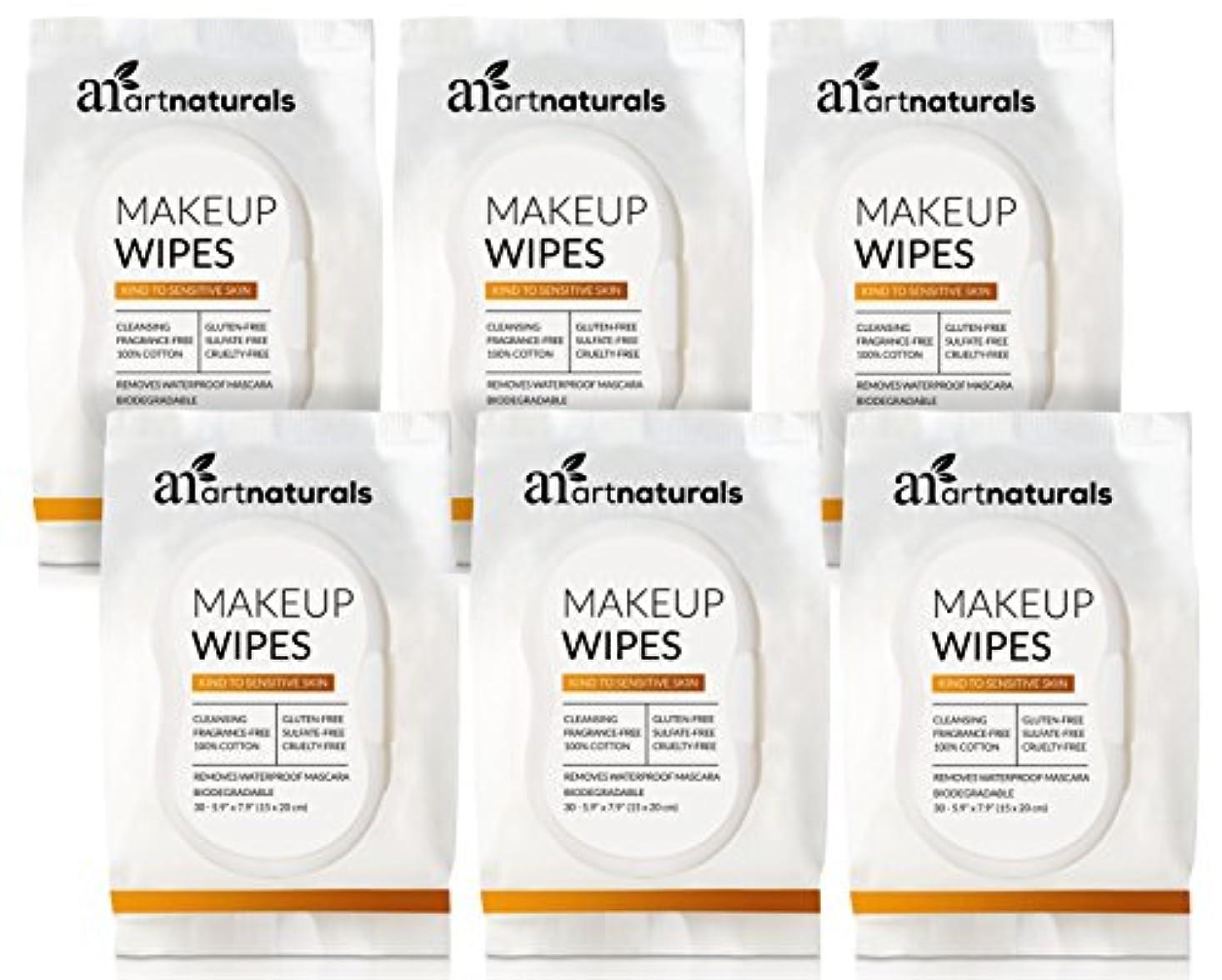 突然の考慮渇きArtNaturals Makeup Remover Cleansing Wipes-Towelettes – (30 Count x 6 Piece Set) – Biodegradable Facial Wipes...