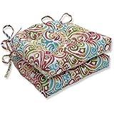 "Pillow Perfect Chair Pad, 619859, 100% T-Spun Polyester, Blue, 16"" x 15.5"" x 4"""