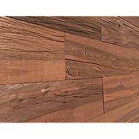 """スマートPaneling 111395"""" Reclaimed 3dバーン壁厚板Holey木製( 10平方フィート。/ケース、ブラウン"""