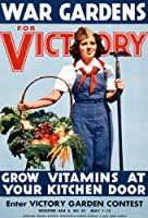 "2 W85ヴィンテージ1940 's WWII War Victory Garden Grow Your Own野菜ww2ポスター – 2異なるサイズを選択a3 / a2 + A2+ (610 x 432mm) 24"" x 17"" 2w85A2"