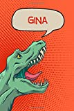 """Gina: Personalized Dino Blood Sugar Diet Diary journal log 120 pages 6""""x9"""""""