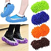 1 Pair Home Non-slip Mop Sweep Floor Cleaning Duster Cloth Housework Lazy Soft Slipper Washable Worldwide sale