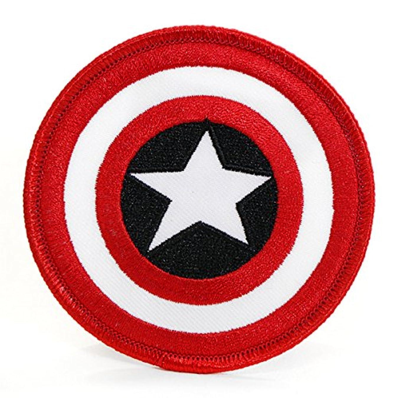 山遅れ夜の動物園Marvel(マーベル) Captain America(キャプテン・アメリカ) Shield ワッペン/パッチ
