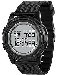 Vemupohal デジタル腕時計 8mm超薄い 超軽い ストップウォッチ 50M防水 アラーム LED カウントダウン クロノグラフ 多機能 ジョギング 運動 レディース メンズ 男女兼用 学生 ファッション (ブラック&ホワイト)
