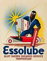 Essolube–bluft smeren ondanks hoogste temperatuurヴィンテージポスター(アーティスト: Walther )ドイツC。1935 24 x 36 Giclee Print LANT-64197-24x36