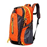 アウトドア 登山 バックパック, Natuce 40L大容量 防水 軽量 多機能 リュック 背中通気スポーツバッグ(オレンジ)