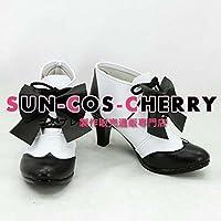 【サイズ選択可】コスプレ靴 ブーツ K-1429 黒執事 赤ずきん シエル・ファントムハイヴ 女性25CM