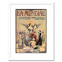 Commercial Advert La Mundial Insurance Madrid Spain Framed Wall Art Print 商業の広告スペイン壁