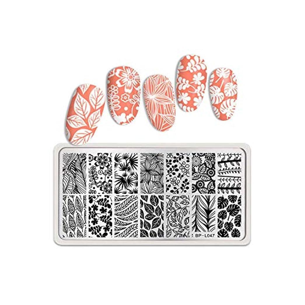 十代バイナリ累積生まれたかわいい長方形ネイルスタンピングプレートステンレス鋼花糸蝶ローズネイルアートイメージステンシルデザインツール,BP-L047