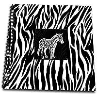 Doreen Erhardt動物印刷コレクション – Zebra Print with Zebra – Drawing Book 12 by 12-Inch db_38699_2