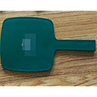 HuaQingPiJu-JP 工芸品の装飾のための小さな化粧鏡ハンドルを持つミニ四角形の装飾緑