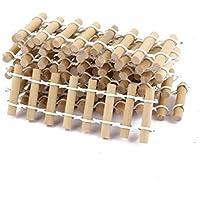 【ノーブランド品】ドールハウス 箱庭用 樹脂製 ミニチュア フェンス (ウッディ) 10個