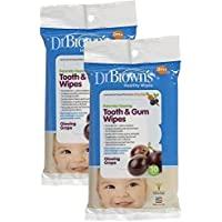 Dr. Brown's Tooth and Gum Wipes - Glowing Grape - 30 Pk (Set of Two) by Dr. Brown's [並行輸入品]