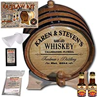 Personalized Outlawキット(カナダRye Whiskey )からAmericanオークバレル–デザイン063: Barrel Aged Whiskey 2 Liter